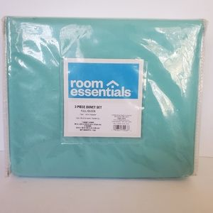 New Teal light Blue Duvet Cover Set 3pc Full/Queen